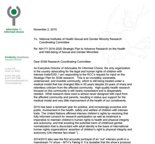 AIC Response to NIH SGM Strategic Plan