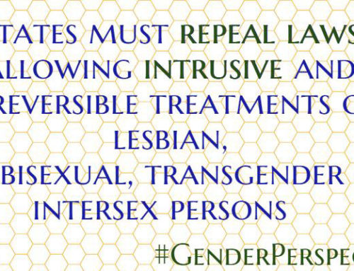 New UN Special Rapporteur on Torture Report addresses Intersex issues among others