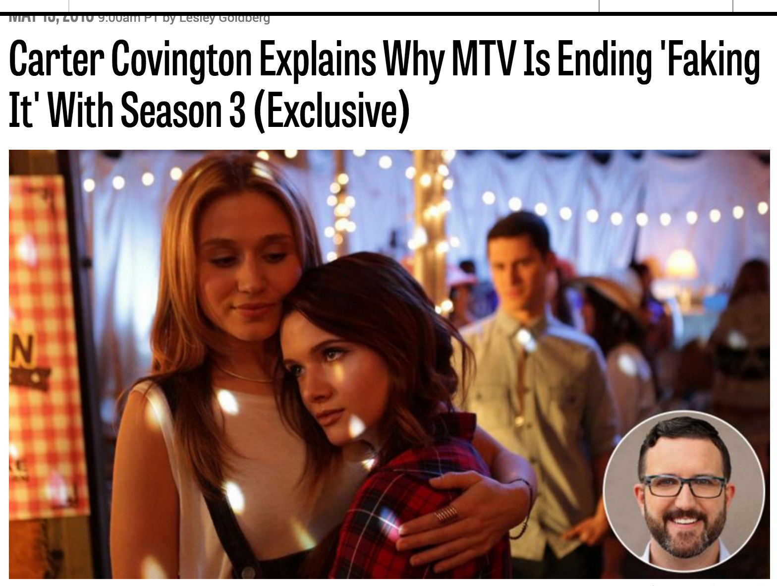 Carter Covington explains why Faking It is Cancelled Image