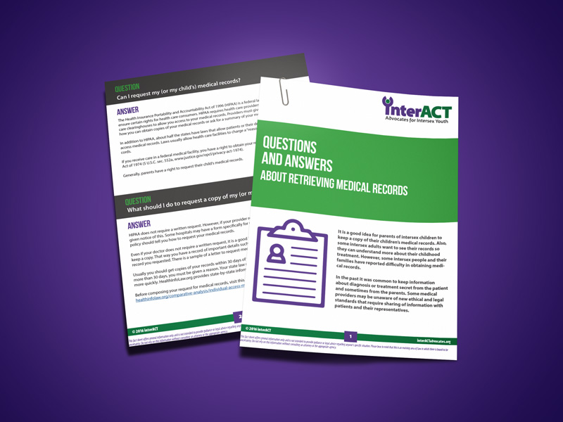 intersex resource FAQ on Retrieving Medical Records