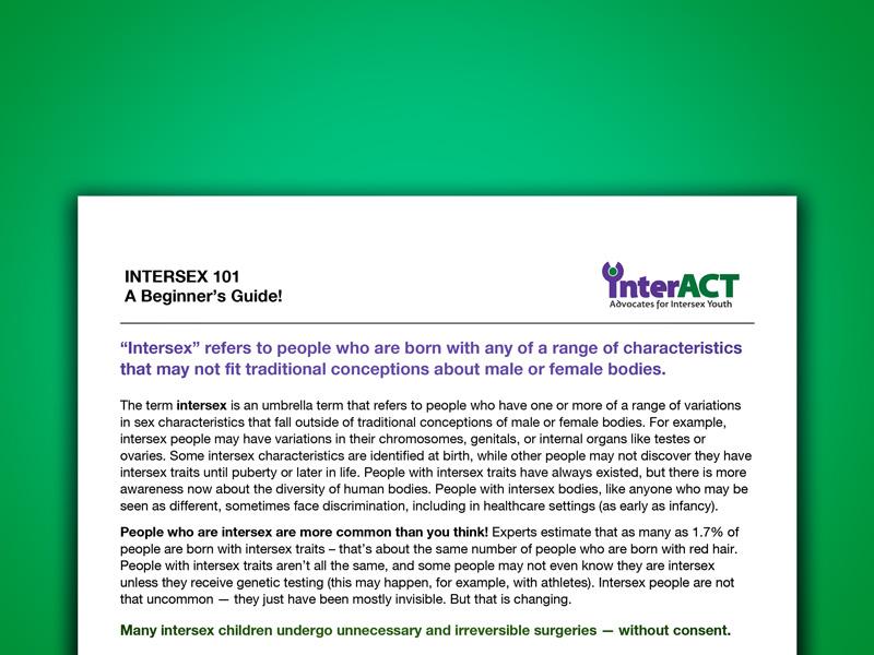 INTERSEX 101: A Beginner's Guide!