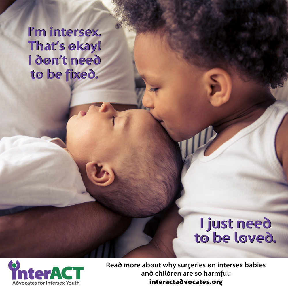 intersex babies don't need to be fixed.