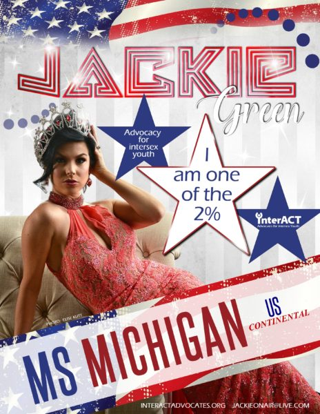 Photo of Jackie Green for the Ms Michigan Flyer